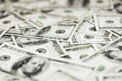 Dollars Background. Lots of real 100 greenbacks for background (shallow dof Stock Photography