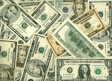 Dollars background royalty free stock image
