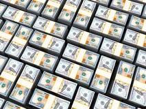 Dollars background. 3d illustration of many dollars heap background vector illustration