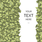 Dollars background with sample text in square Stock Photos