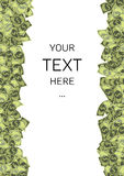 Dollars background with sample text Royalty Free Stock Image