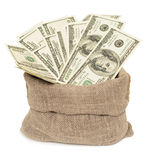Dollars in bag Royalty Free Stock Photography