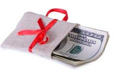 Dollars in bag Royalty Free Stock Image
