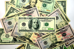 Dollars Bank Note. Some of dollars bank note as a background Royalty Free Stock Photography