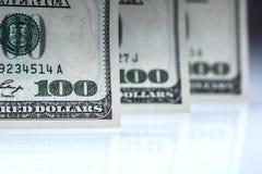 dollars bankbiljetten Het Amerikaanse Geld van het Dollarscontante geld Honderd dollarsbankbiljetten Royalty-vrije Stock Foto's