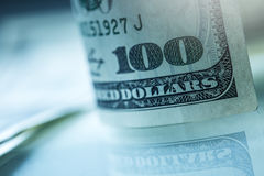 Dollars banknotes. American Dollars Cash Money. One Hundred Dollar Banknotes Stock Image