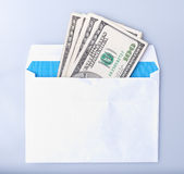 Dollars banknotes in the envelope Stock Image