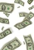 Dollars. Banknotes falling as rain royalty free illustration