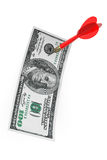 Dollars Bill with Darts Arrow Royalty Free Stock Images