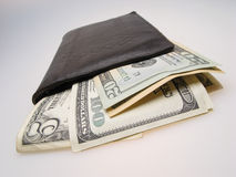 Dollars in billfold Royalty Free Stock Images