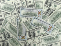 100 Dollars Bills Background - 2 Faces Royalty Free Stock Photos