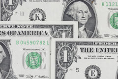 Dollars bills, cash pile background Stock Image
