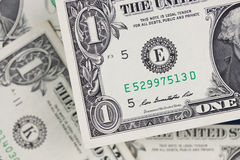 Dollars bills, cash pile background Stock Photo