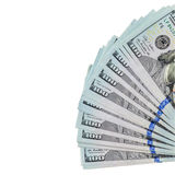 Dollars bills isolated over white Royalty Free Stock Images
