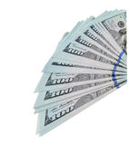 Dollars bills isolated on white background Royalty Free Stock Photo