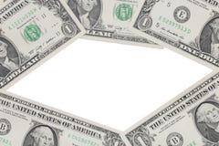 Dollars bills, on white background Stock Photography