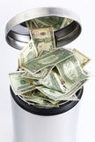 DOLLARS BIN Stock Photography