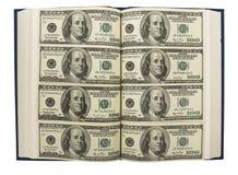 Dollars in boek Stock Afbeeldingen