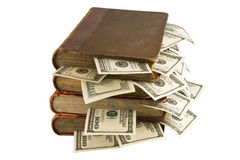 Dollars in the books Royalty Free Stock Image