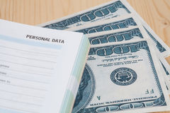 Dollars in the books, background, Royalty Free Stock Images