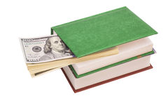 Dollars in Books Stock Photography