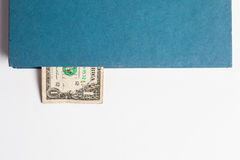 Dollars in the books, isolated on white background, business tra Stock Photo