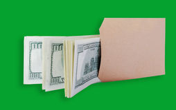 Dollars in the brown bag. Royalty Free Stock Photography