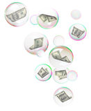 Dollars into bubbles Stock Images