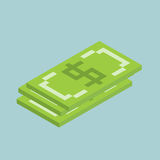 Dollars, bucks sign cubes form, isometric US currency icon, vector illustration.  Stock Photo