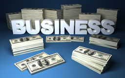 Dollars and business Royalty Free Stock Images