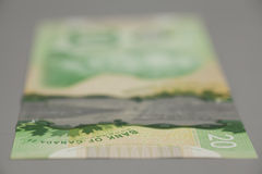 20 dollars Canadian bank notes Royalty Free Stock Images
