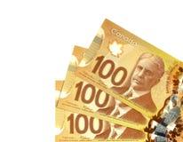 Dollars canadiens Images libres de droits