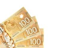 Dollars canadiens Photographie stock libre de droits