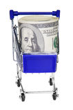 Dollars in the cart Royalty Free Stock Photo