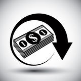 Dollars cash money stack  Royalty Free Stock Images