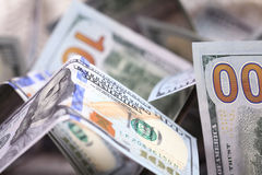 Dollars in cash pile Stock Photos