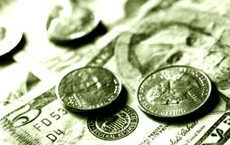 Dollars and cents Stock Images