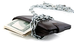 Dollars in chains Stock Photography