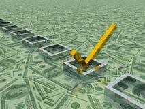 Dollars Check Mark Royalty Free Stock Image