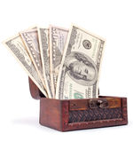 Dollars from the chest Royalty Free Stock Photo