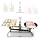 Dollars and chinese yuan Royalty Free Stock Photos
