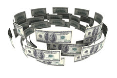 Dollars in circulation Stock Images
