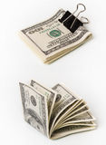 Dollars with clip Stock Image