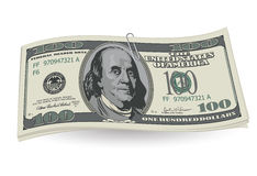 Dollars with clip Royalty Free Stock Photos