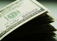 Dollars close up Stock Images