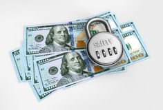 Dollars on a closed safe Stock Photography