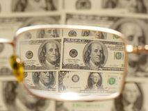 Dollars by the closeup Stock Photos