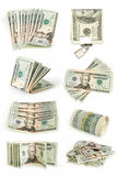 Dollars colection Stock Photos
