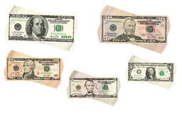 Dollars collection Stock Image