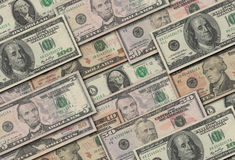 Dollars collection. Many dollars banknotes in background Royalty Free Stock Image